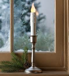 cordless window candle holiday lighting plow hearth