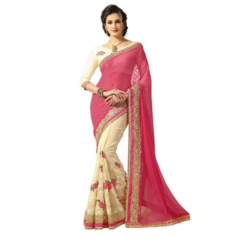 Robe Cocktail Indienne - sari indien beige tenue indienne saree