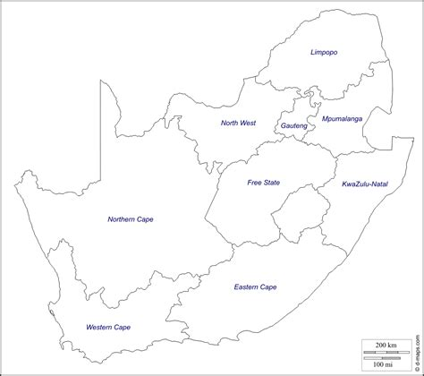 south africa map outline geography south africa outline maps