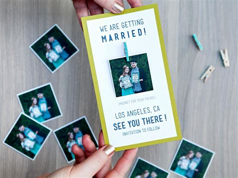 wedding save the date and engagement announcement ideas diy