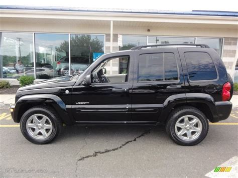 black jeep liberty black clearcoat 2004 jeep liberty limited 4x4 exterior