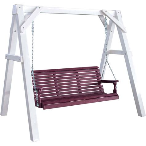 swing stand frame luxcraft poly a frame vinyl swing stand white 183 hostetler