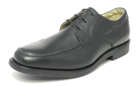 comfortable black work shoes men mens tredflex black leather comfort memory foam smart