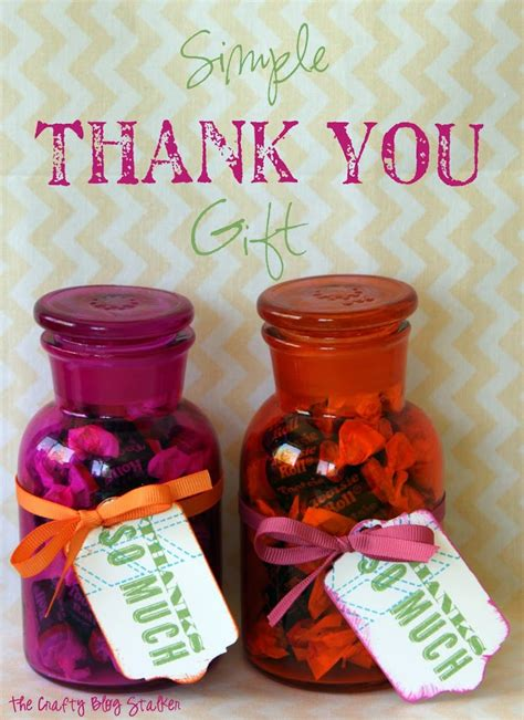 simple thank you gift the crafty stalker