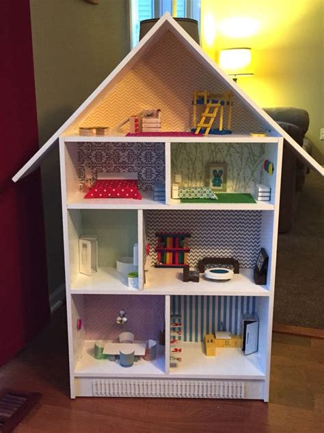diy bookshelf dollhouse furniture made from household