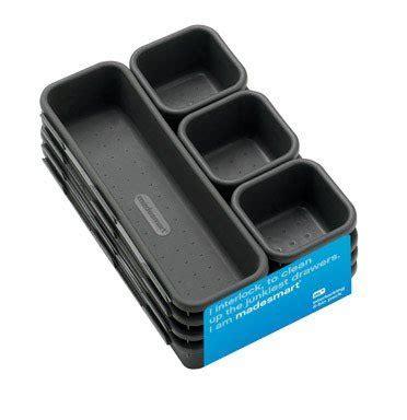 interlocking drawer organizer set madesmart interlocking drawer organizer bins 8 bin 1 set