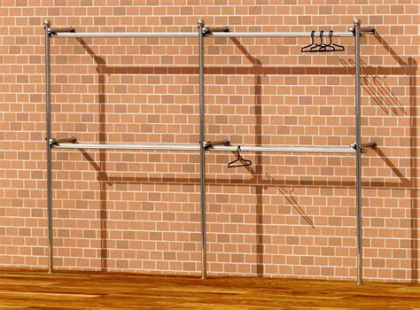 Hanging Rails For Walk In Wardrobes by Cl Walk In Wardrobe Wall Clothes Rack Fashion