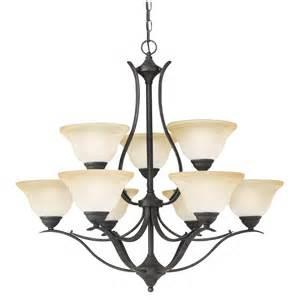 bronze chandelier lighting prestige 9 light chandelier in bronze finish sl863922