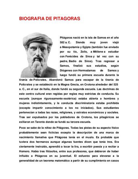 Biografia De Pitagoras | biografia de pitagoras