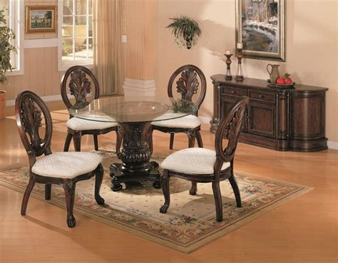 glass dining room furniture sets round dining room set sets home formal round dining room s