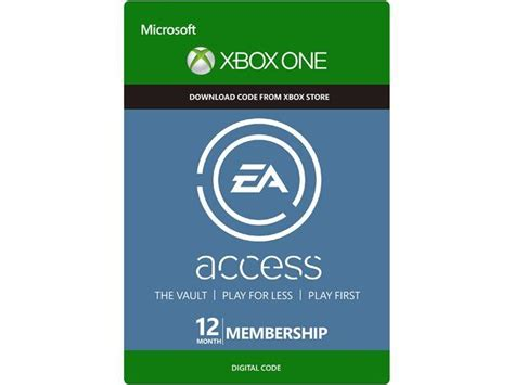 access one card ea access 12 month subscription xbox one digital code