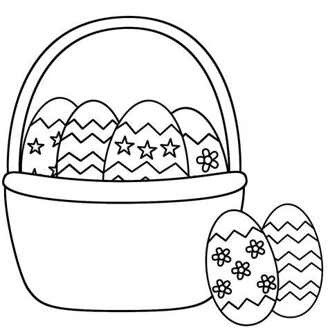 basket of eggs coloring page easter egg basket coloring pages az coloring pages
