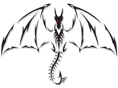 tattoo tribal dragon designs tribal black ink design