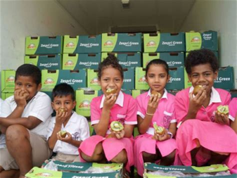 Donate A Tonne To Global Cool by Fruit For Fiji Zespri And T G Join Forces