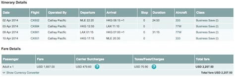 how much is a ticket for running a light cathay pacific business class fares from the maldives
