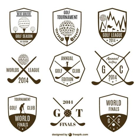 vintage gulf logo collection of vintage golf logos vector free