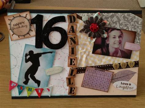 Handmade 16th Birthday Cards - handmade 16th birthday card cards 16th