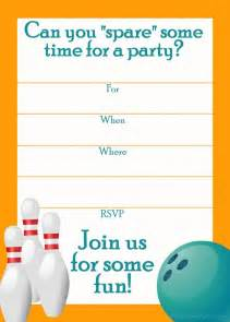 Free Bowling Invitation Template by Free Printable Sports Birthday Invitations Templates