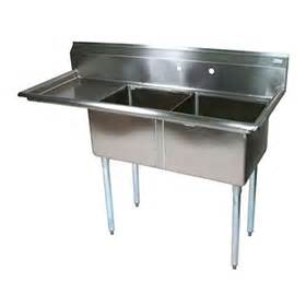 bk bks 2 1620 12 18l two compartment sink commercial