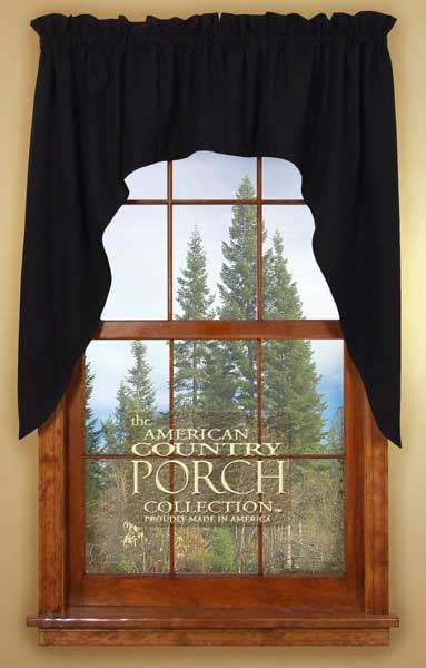 black swag curtains solid black window curtain swags