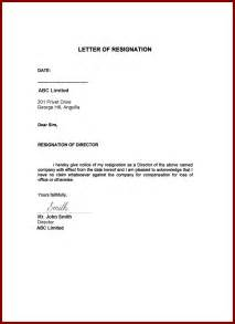 Resignation Letter For Resignation Letter Letter Of Resignation With Immediate Effect Template Ideas Sle Of