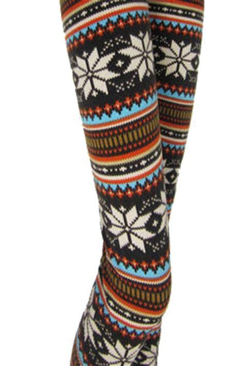 pattern christmas leggings 12 58 orange winter print snow fair isle pattern
