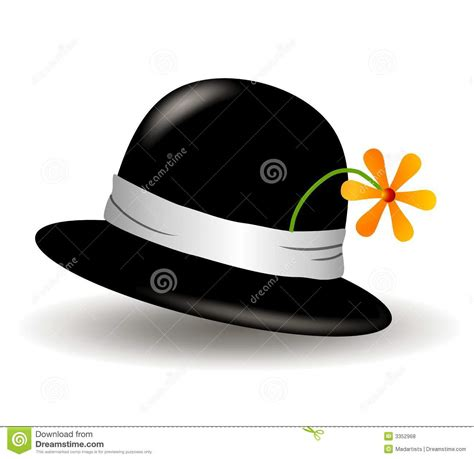 black hat  flower clip art royalty  stock  image