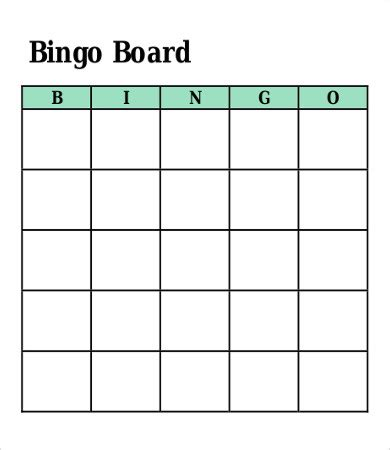 bingo cards templates free bingo card template 8 free word pdf vector format