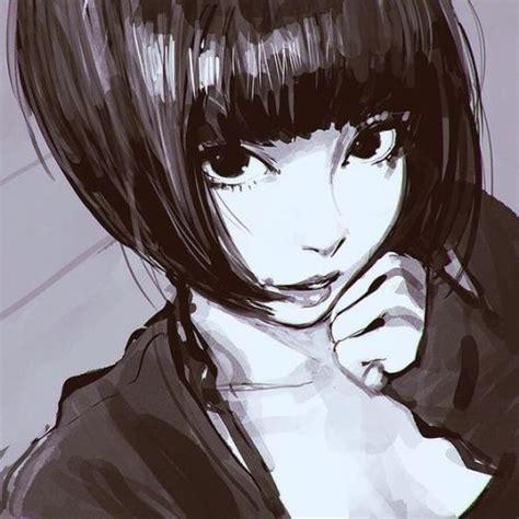 drawing of bob hair manga girl short hair tumblr