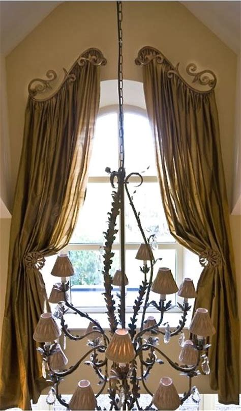 curtain rods for arched shaped windows option for those arched windows for the home
