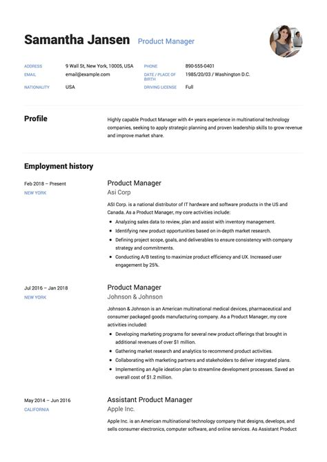 Product Manager Resume Resume 12 Sles Pdf 2019 Product Manager Resume Template