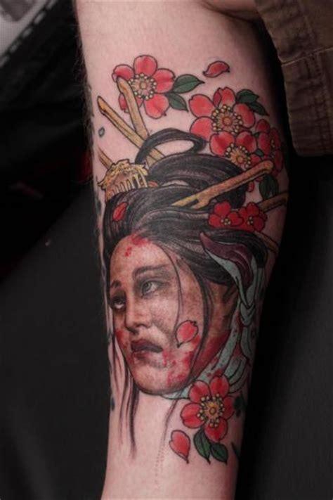 geisha tattoo calf calf japanese geisha tattoo by camila rocha