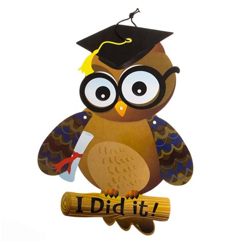 graduation owl cutout