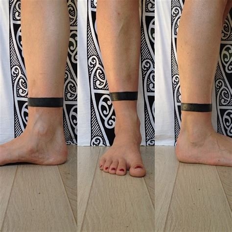 black ink ankle band tattoo tattooshunt com