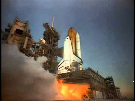 closeup imax camera on launch pad captures space shuttle