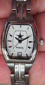 Fossil Matic Blue dallas cowboys fossil three date wristwatch