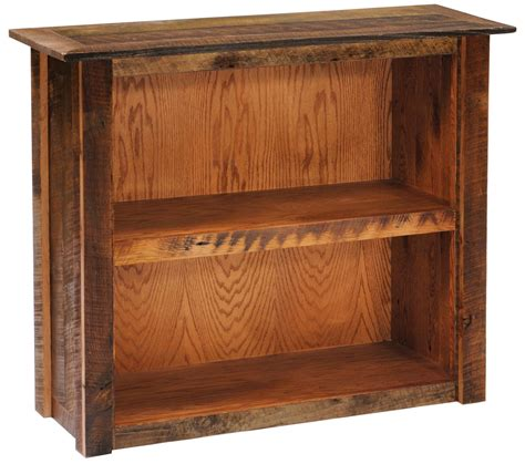 small bookshelf with barnwood legs from fireside lodge