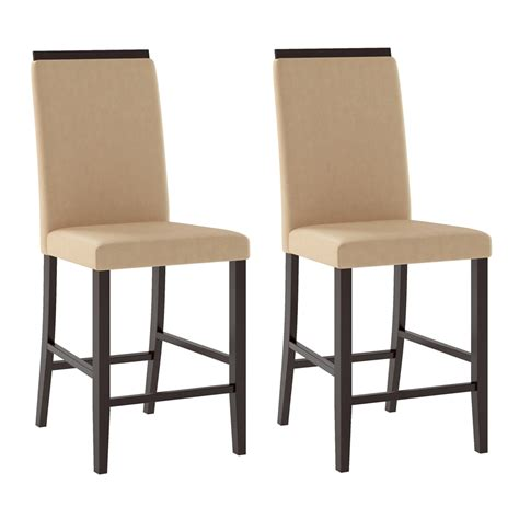 corliving dpp 1 bistro counter height dining chairs set of 2 lowe s canada