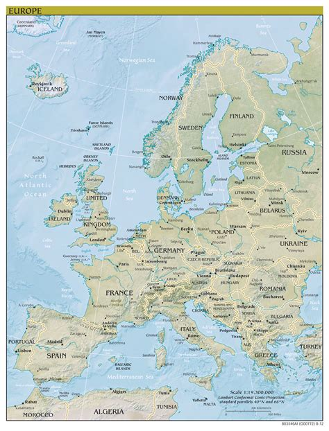 world map europe cities large scale political map of europe with relief capitals