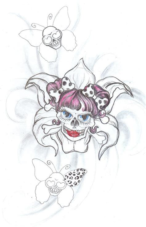 cute girly skull tattoos designs 9 best girly skull designs images on