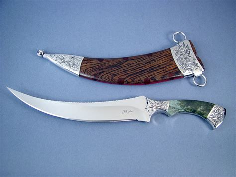 Antique Kitchen Knives quot desert wind quot persian dagger collector s fine knife by jay