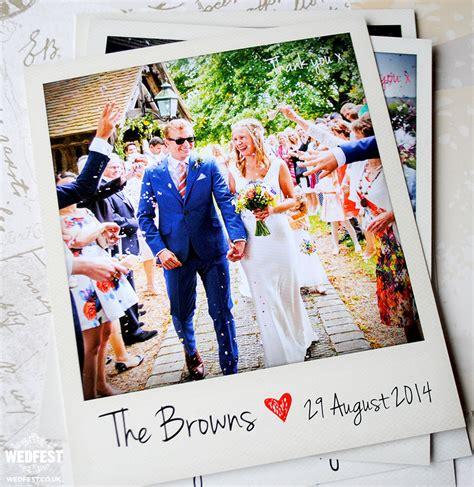 Wedding Thank You Gift Card - polaroid photo wedding thank you cards wedfest