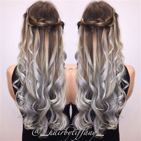 silver and brown hair style hair color for spring 2016 nail art styling
