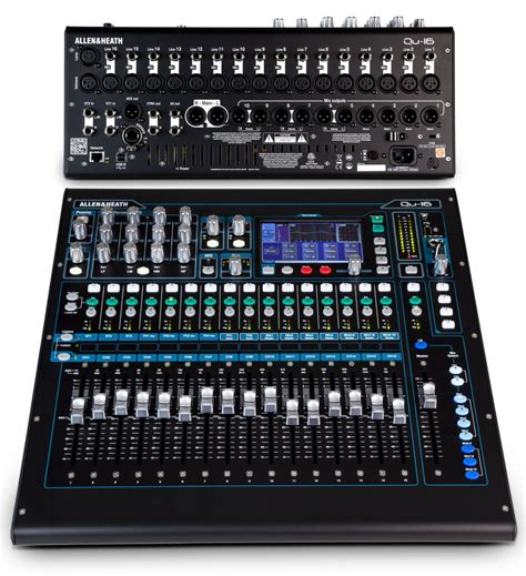 Mixer Allen Heath 8 Chanel qu 16 rackmountable digital mixer for live studio and installation