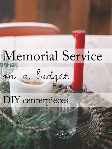 funeral decorations for tables 15 ideas for a beautiful memorial service on a budget diy