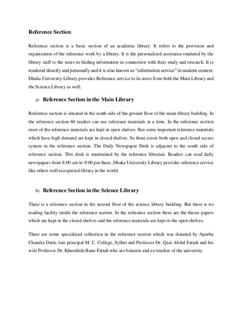 recommendation section of a report an internship report on library operations and services of