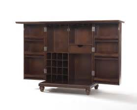 Bar Cabinet Furniture by Crosley Furniture Cambridge Expandable Bar Cabinet In