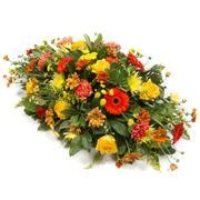 Autumn Flower Single Sprei casket single sprays funeral tribute flowers