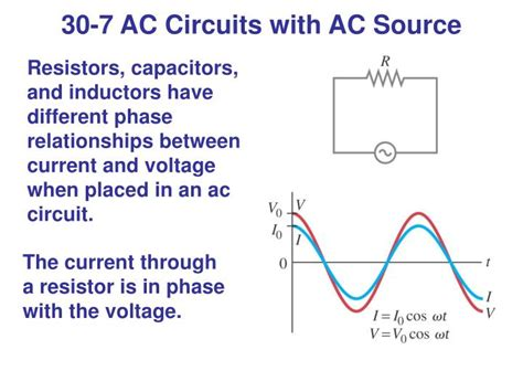 resistor current voltage relationship ppt inductance and ac circuits powerpoint presentation