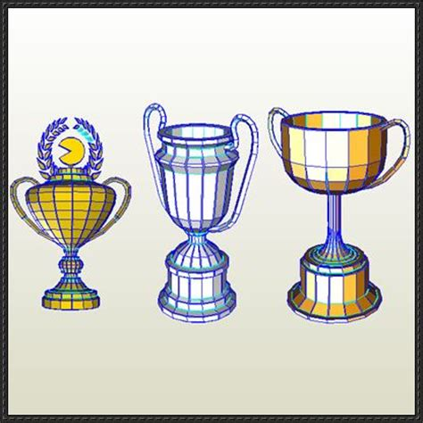 Papercraft Trophy - pac world rally trophies free papercrafts